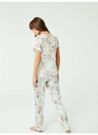 Nbb Saten Pijama Takımı 3374 Ekru